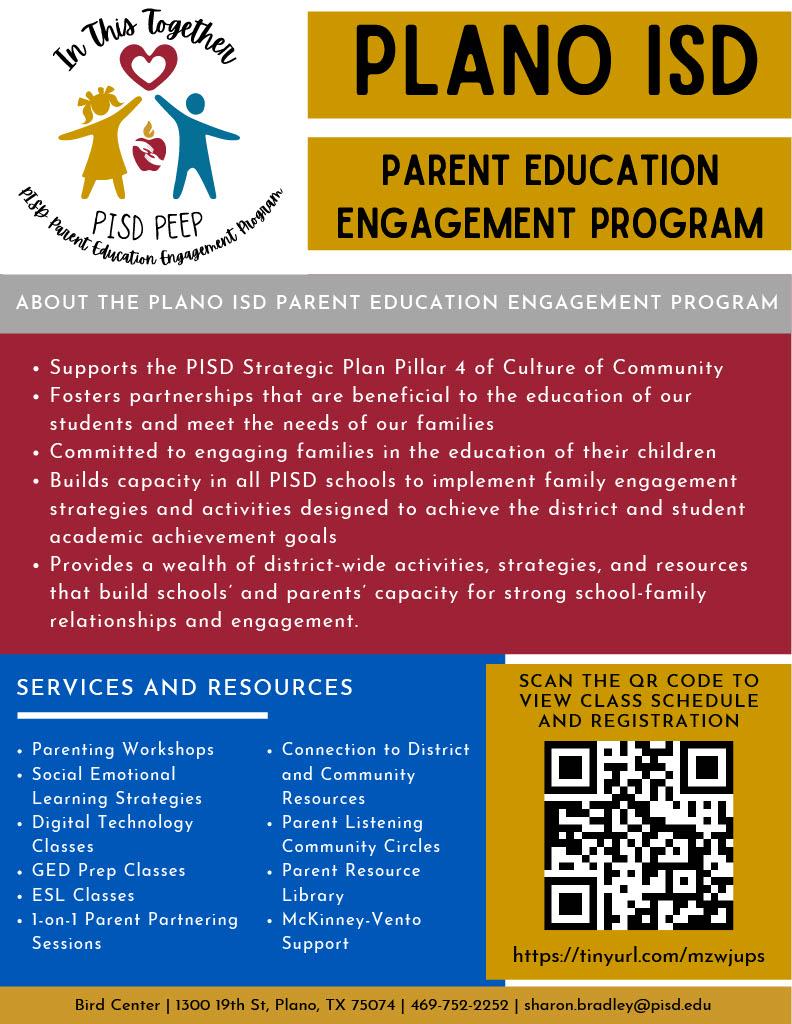 Parent Education Flyer
